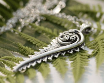 Fiddlehead Fern Pendant