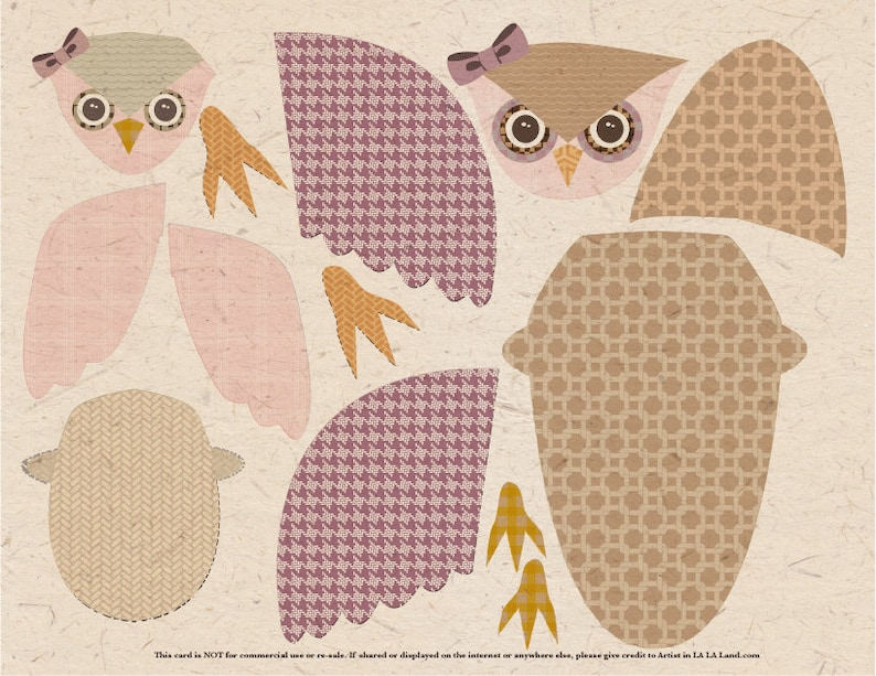 cute diy owl mom  baby fold out wing card for birthday