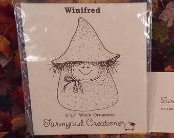 Bewitching Draft Dodger ~ Halloween Kitchen Witch crochet pattern leaflet