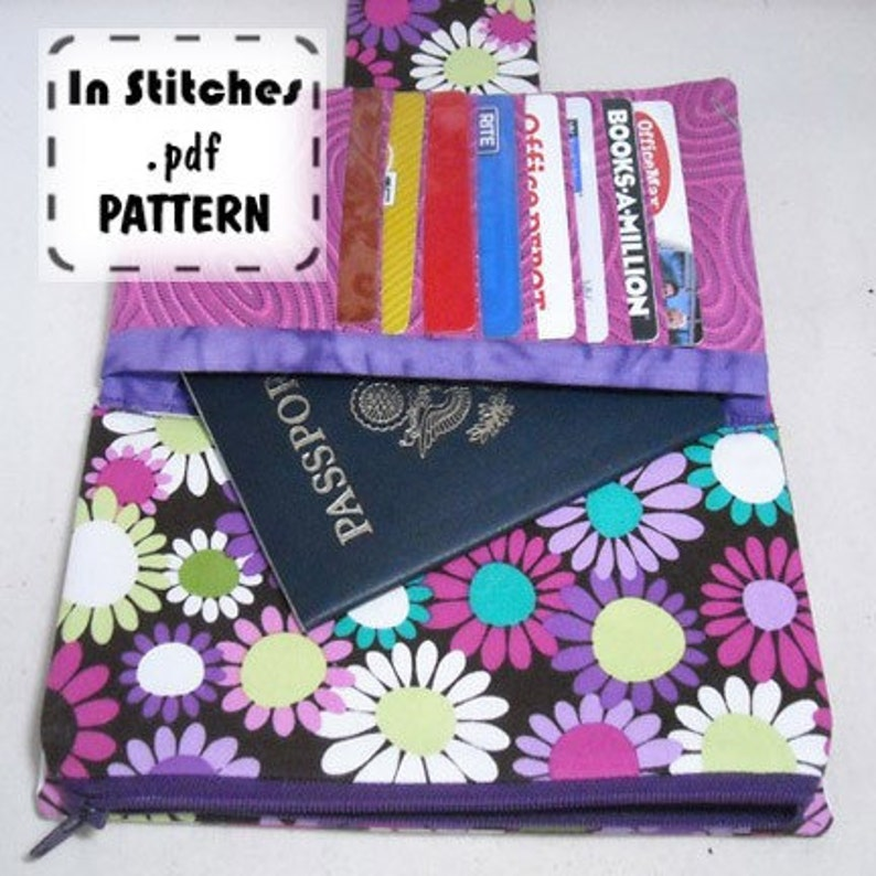 Hold It All Shopper PDF Pattern DIY Wallet Clutch Instructions image 0