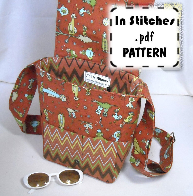 Mimi PDF Pattern Cross Body Messenger Bag EASY Instructions image 0