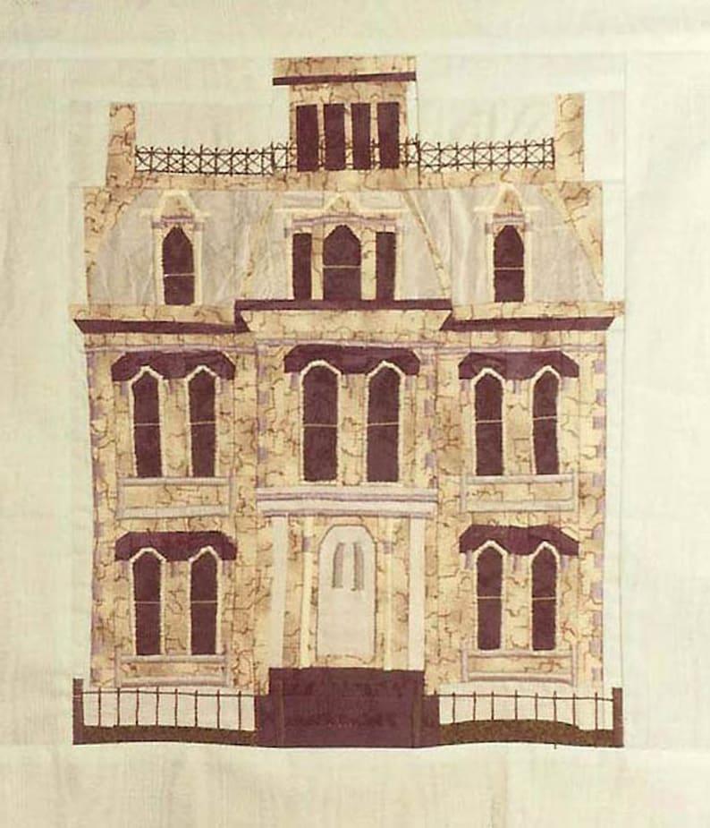 Hamilton-Turner House Quilt Block PDF Pattern Paper Foundation image 0