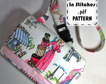 Franny PDF Fanny Pack Pattern EASY instructions DIY Waist Pack Belly Bag Tutorial
