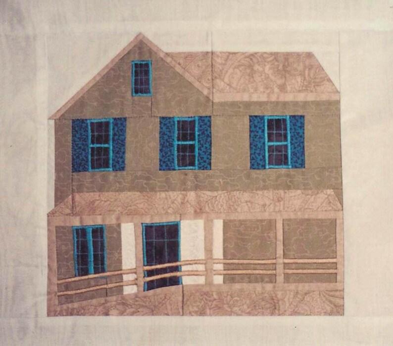 Pirates' House Quilt Block PDF Pattern Paper Foundation image 0