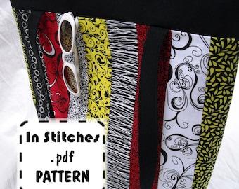 Zipper Crop Tote PDF Purse Pattern - EASY DIY Tutorial - Laptop Bag Instructions