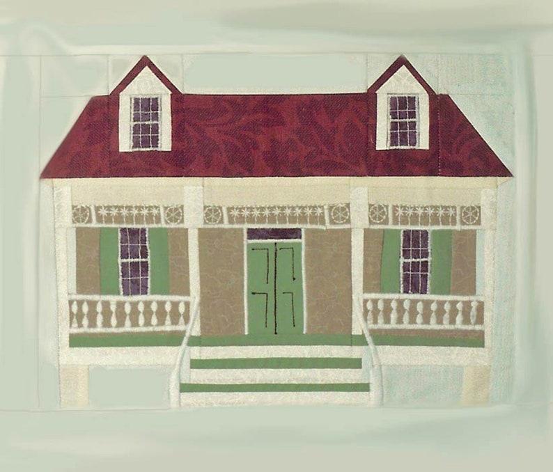 King Tisdell Cottage Quilt Block PDF Pattern Paper Foundation image 0