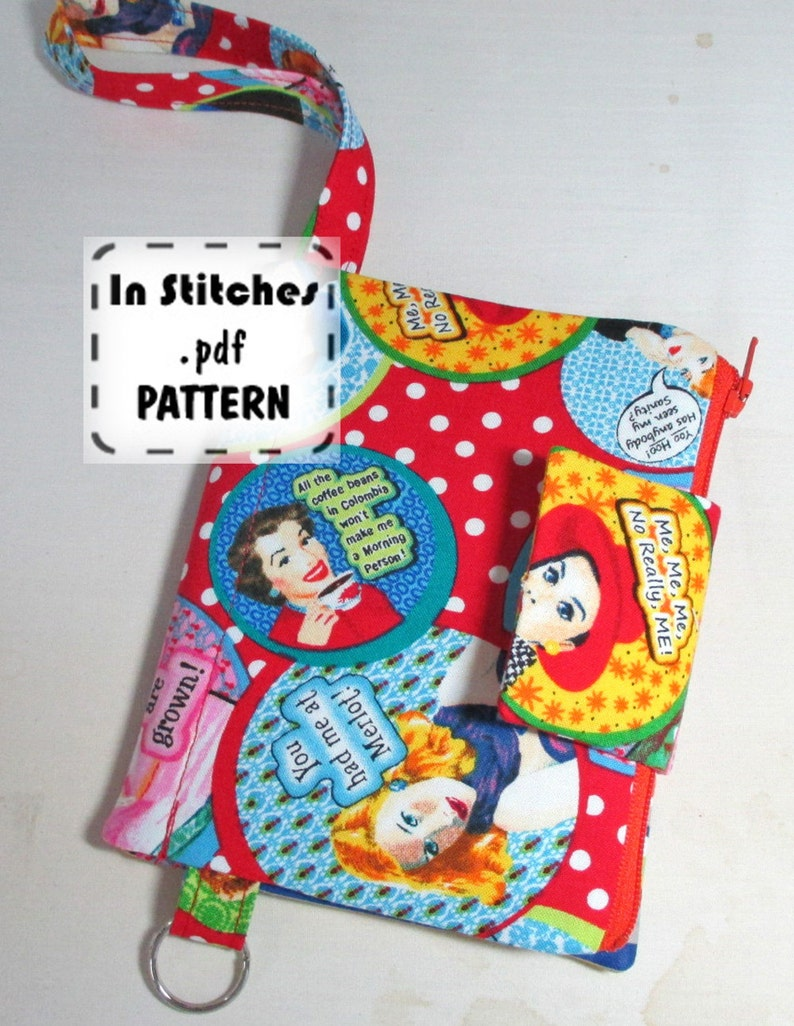 Passport Wallet Wristlet PDF Pattern DIY Clutch Instructions image 0