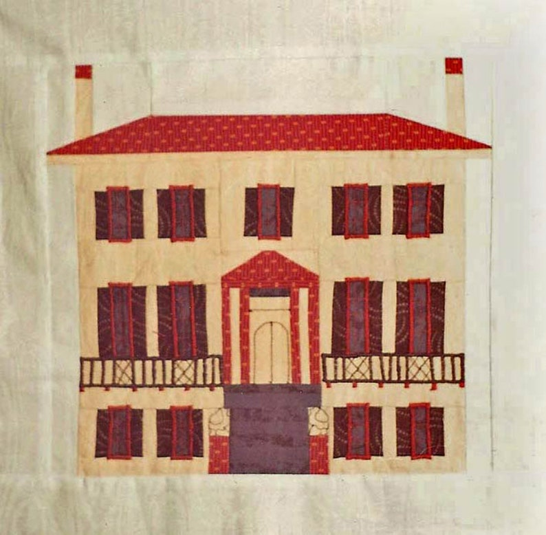 Andrew Low House Quilt Block PDF Pattern Paper Foundation image 0