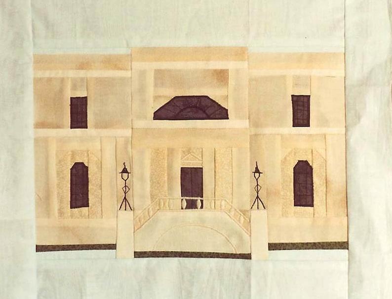 Scarbrough House Quilt Block PDF Pattern Paper Foundation image 0