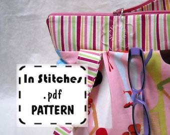 Zipper Hobo PDF Purse Pattern-EASY Shoulderbag Tutorial-DIY Purse