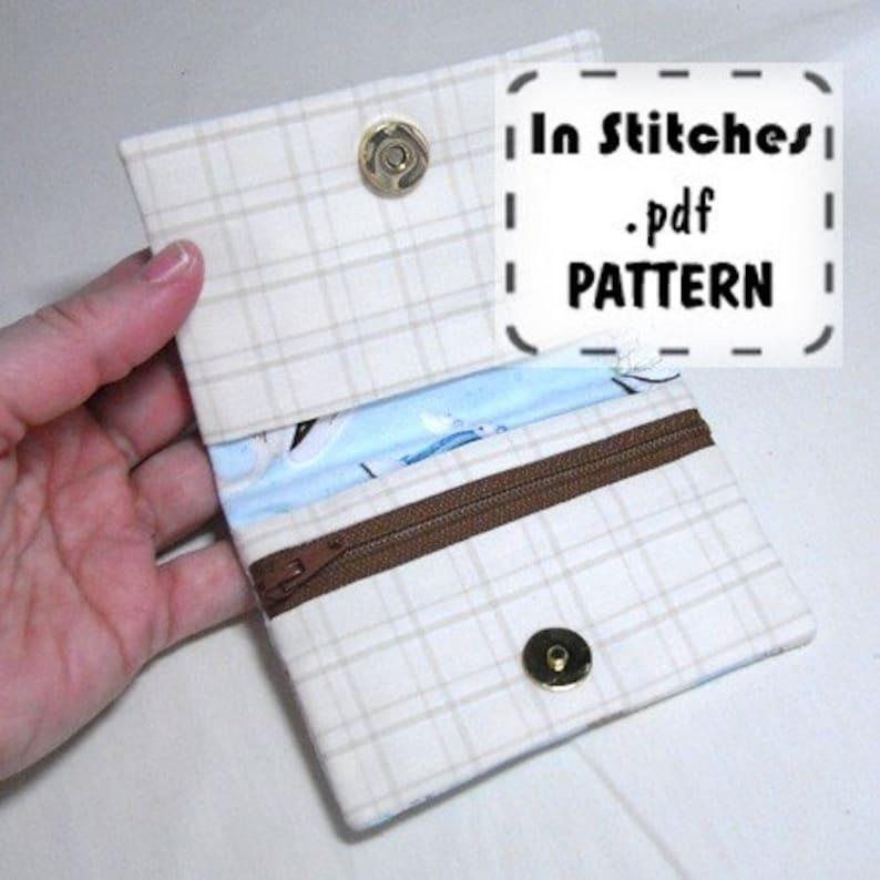 Pocket Wallet PDF Pattern Tutorial EASY Instructions DIY image 0