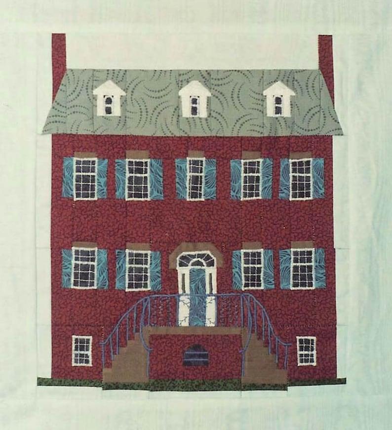 Davenport House Quilt Block PDF Pattern Paper Foundation image 0