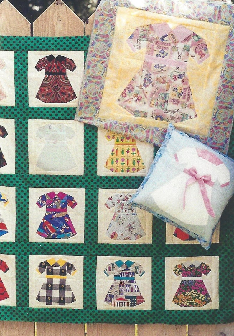 My Daughter's Dresses Quilt PDF Pattern Paper Foundation image 0