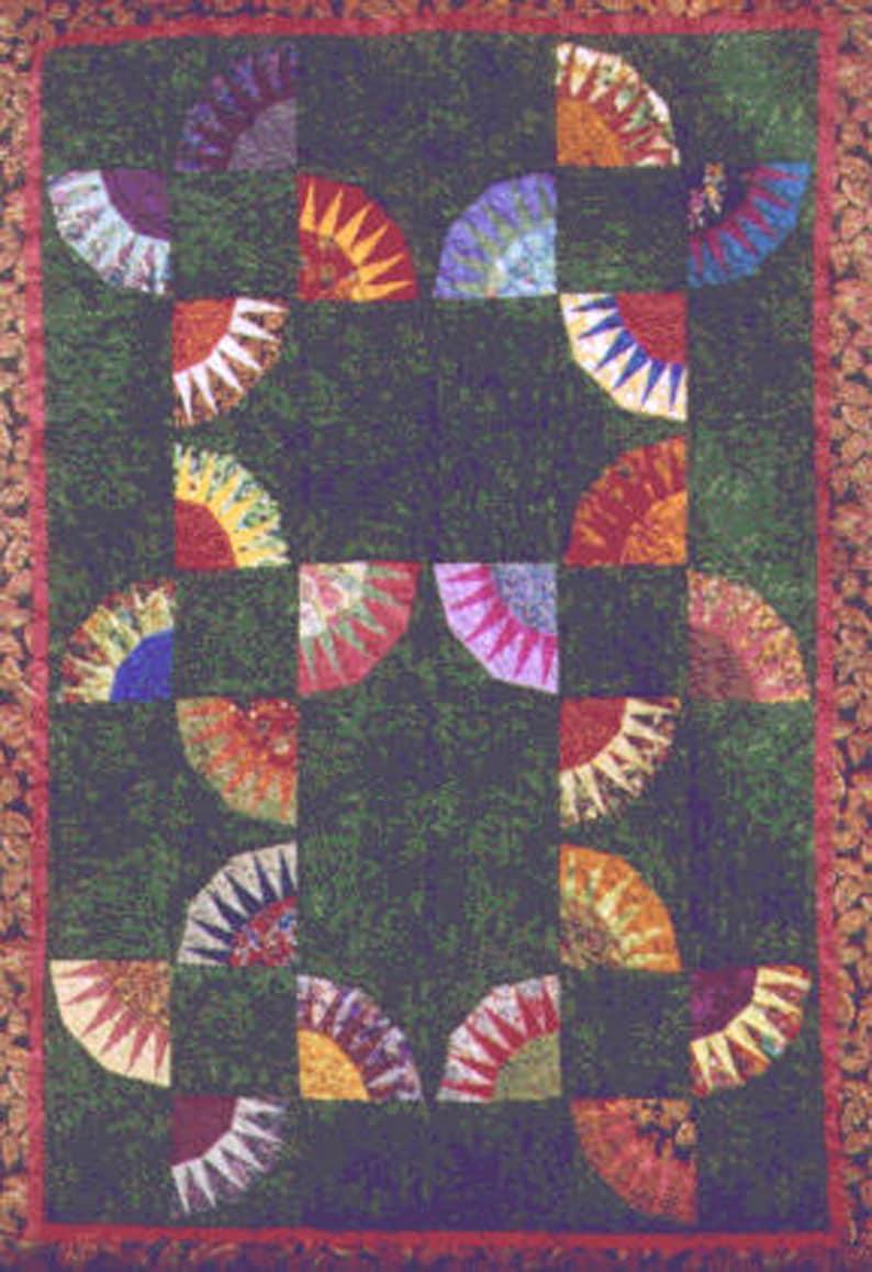 Fandango Quilt PDF Pattern Paper Foundation Piecing image 0