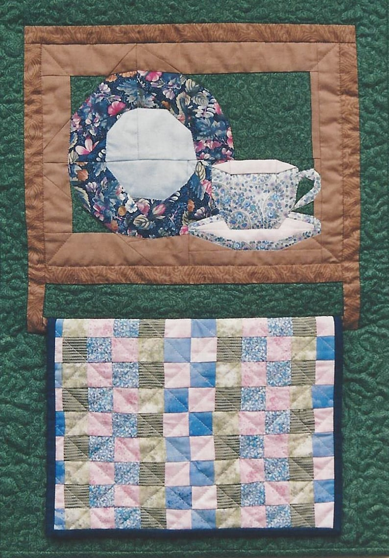 Colonial Collectibles Teacup Quilt PDF Pattern Paper image 0