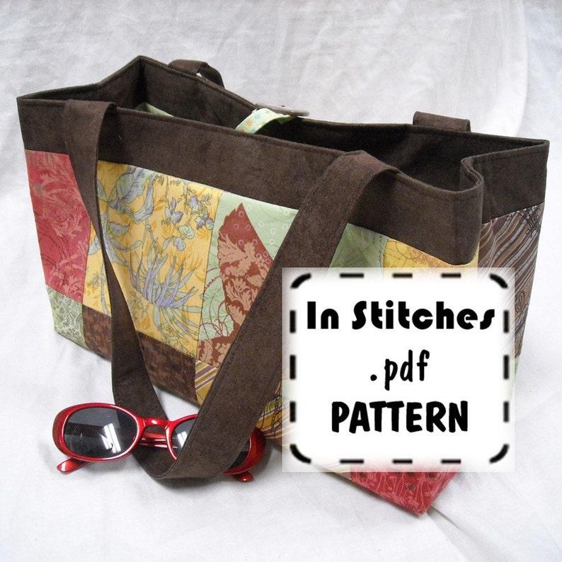 Charmer Tote PDF Purse Pattern Reversible Shoulder Bag EASY image 0