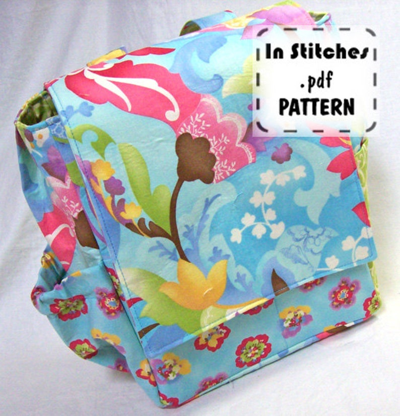 Small Backpack PDF Purse Pattern EASY Carryall Kelly Tutorial image 0