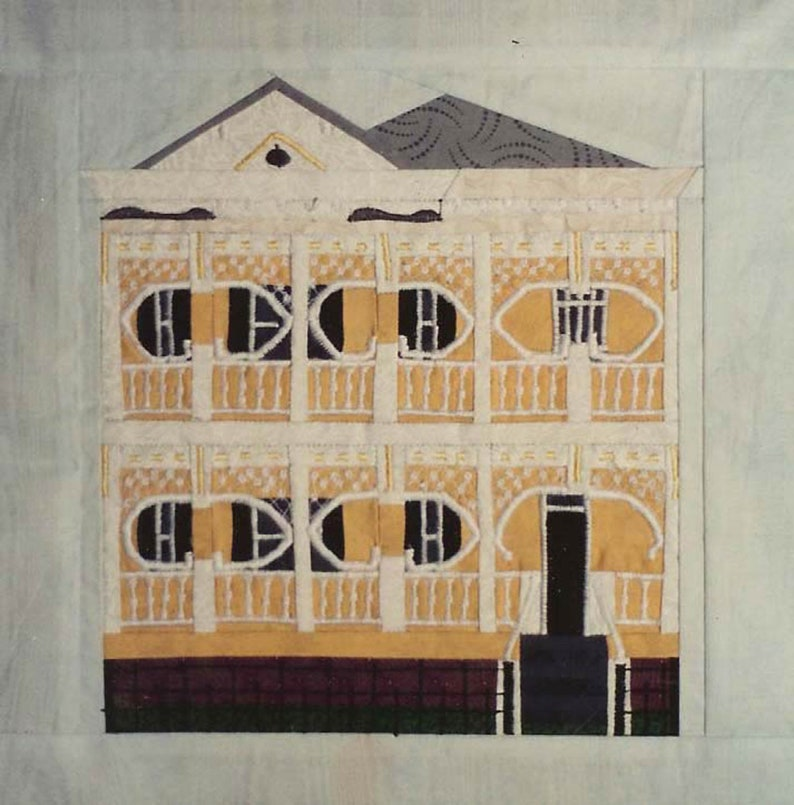 Gingerbread House Quilt Block PDF Pattern Paper Foundation image 0