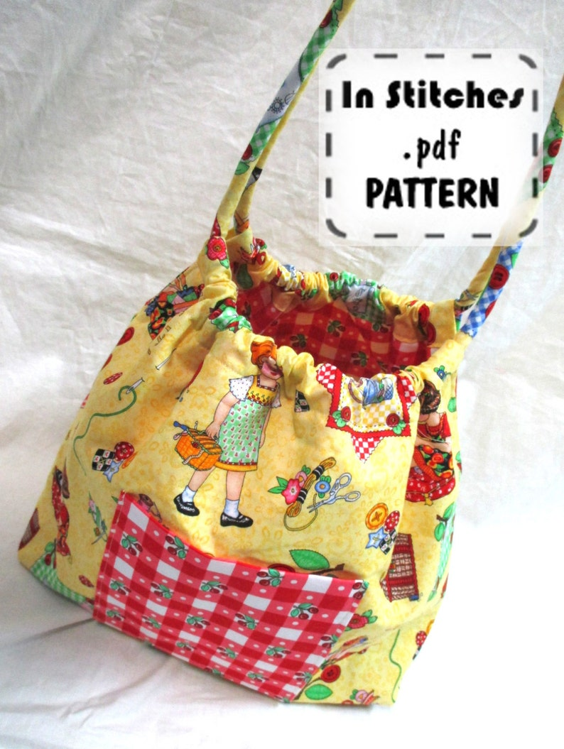 Bubble Bag PDF Purse Pattern-Two Sizes Hobo Shoulder Bag-EASY image 0