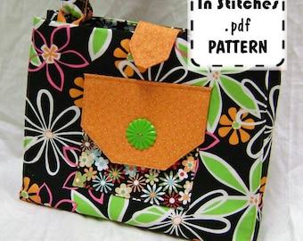 PDF Purse Pattern Shoulderbag Tailored Tote Tutorial Handbag EASY Instructions