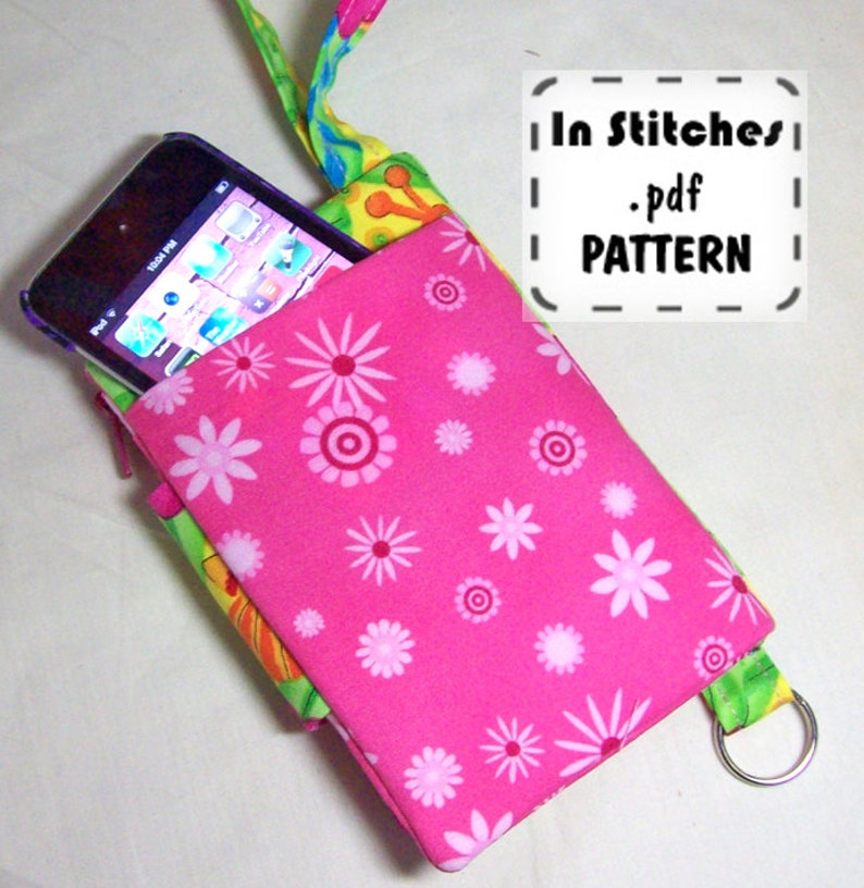 Small Wallet Wristlet PDF Pattern DIY Clutch Instructions image 0