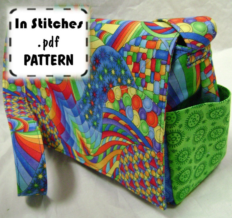 Cross Body Purse PDF Sewing Pattern  Medium Sheila Shoulder image 0