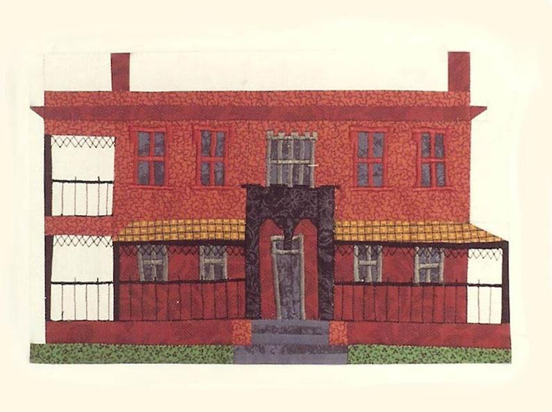 Green-Meldrim House Quilt Block PDF Pattern Paper Foundation image 0