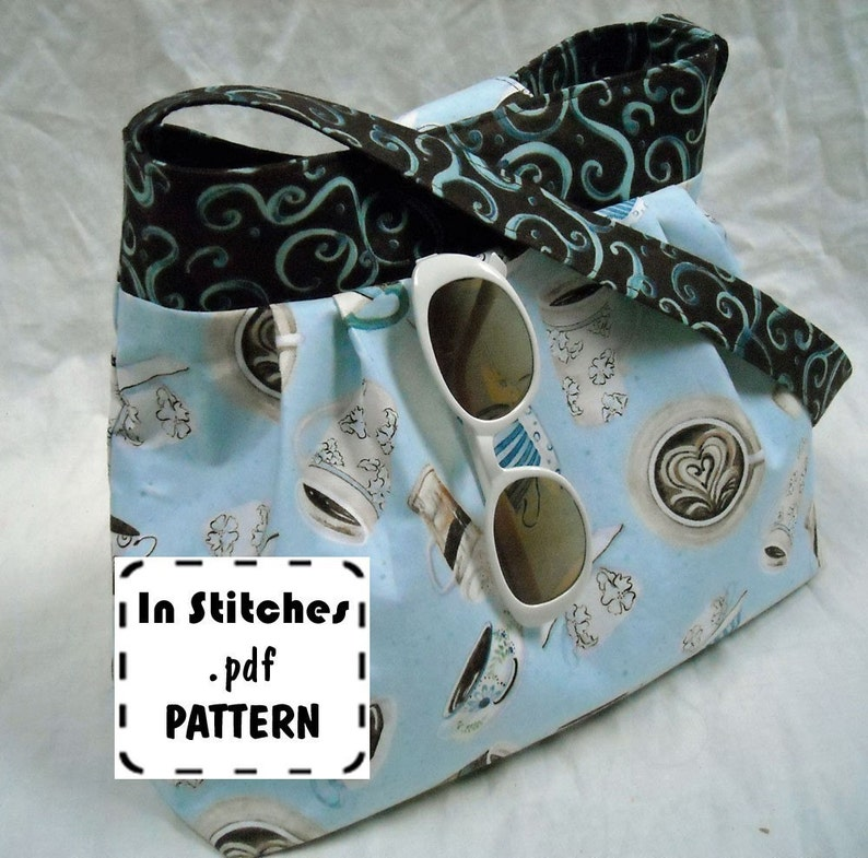 Jamie PDF Purse Pattern-Hobo Shoulder Bag-EASY Sewing image 0