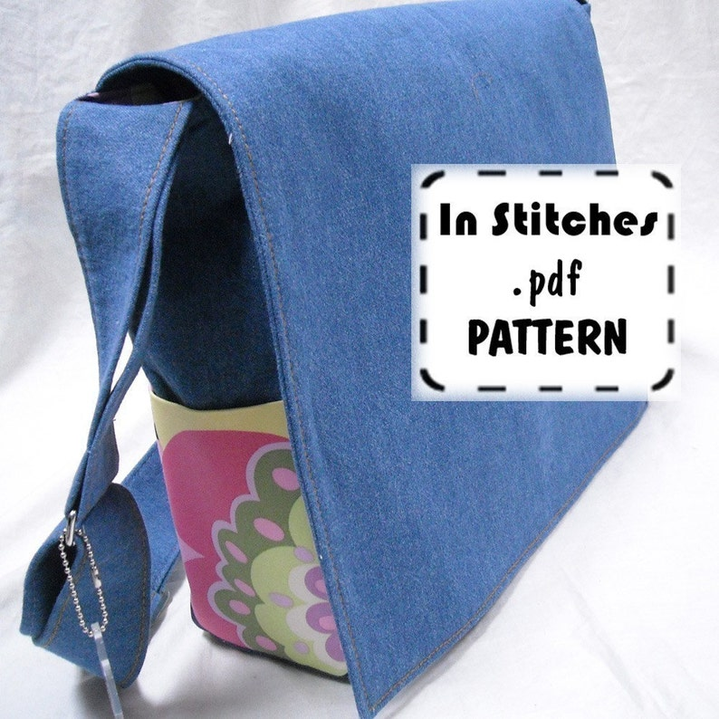 PDF Purse Pattern Lizzie Bag Cross-Body Messenger Tutorial image 0