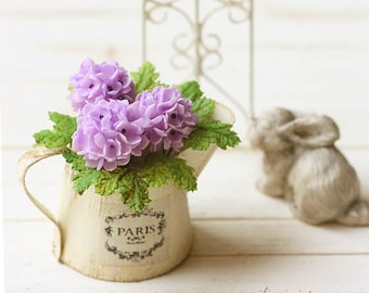 Dollhouse Miniature Flowers- Purple Hydrangeas