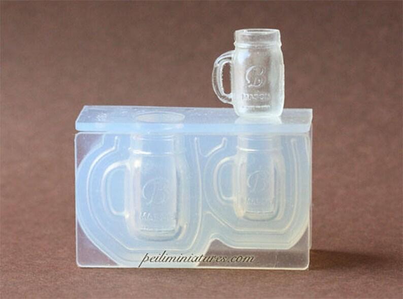 Dollhouse Miniature Mason Jar Mug Silicone Mold