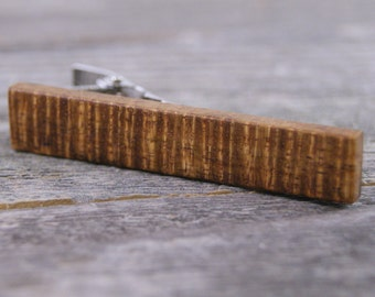 Tie Clip: Curly Old Growth Brown Hawaiian Koa