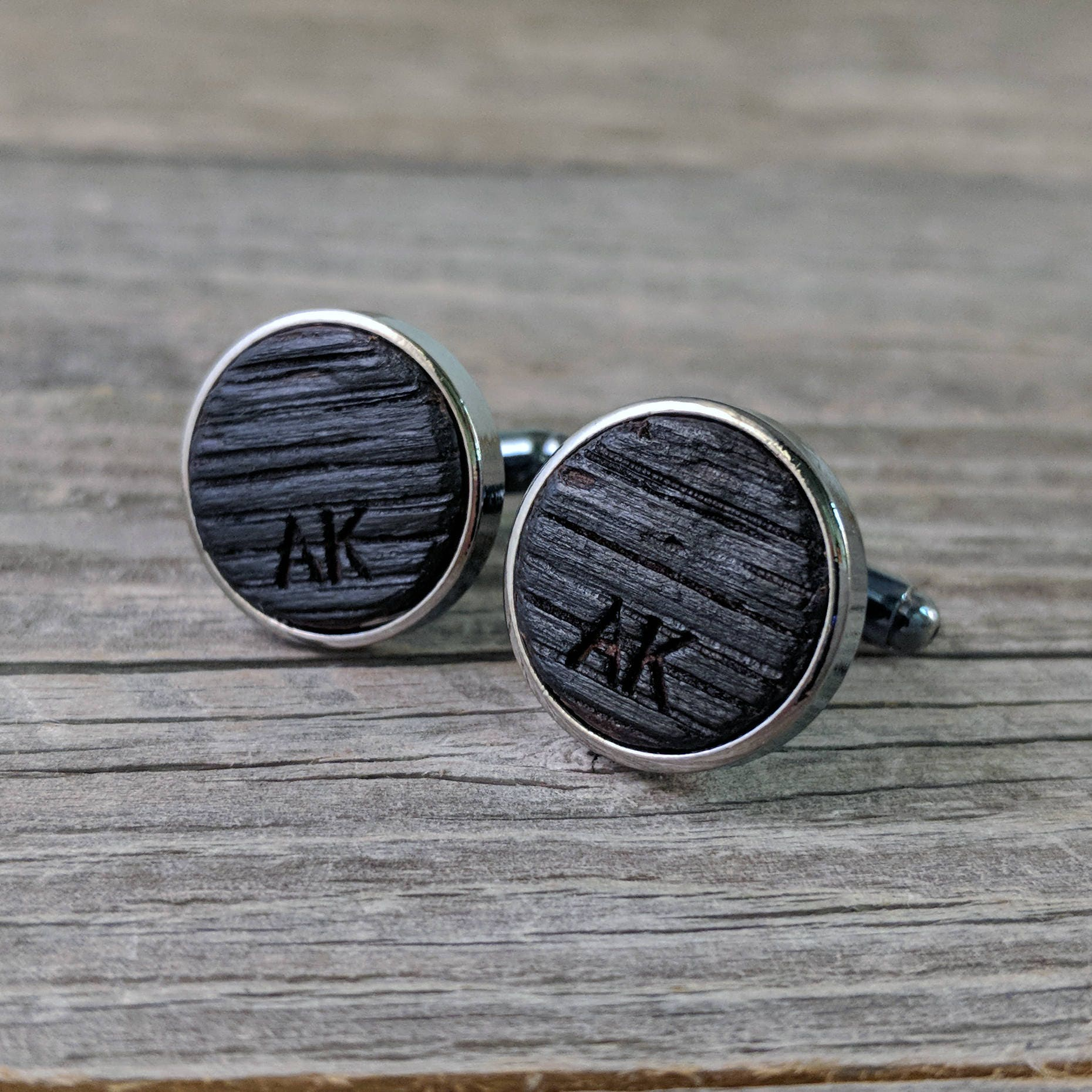 Personalized Cuff Links From A Whiskey Barrel Whiskey Barrel