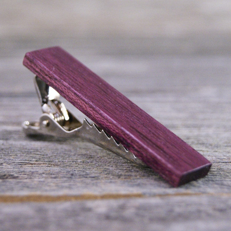 Tie Clip Excellent for Purple Weddings! Brazilian Purplheart