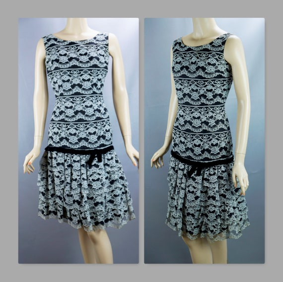 Vtg Dress, Party Dress, 1950s Formal Dress, Black