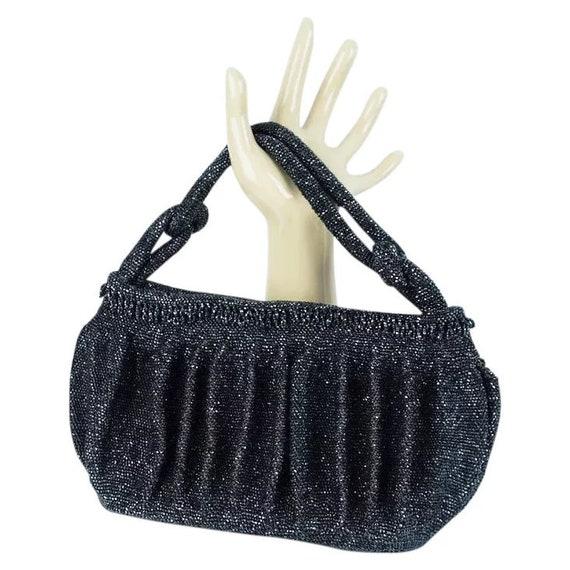 Vintage Handbag, Beaded 50s Handbag, 1950s Micro B