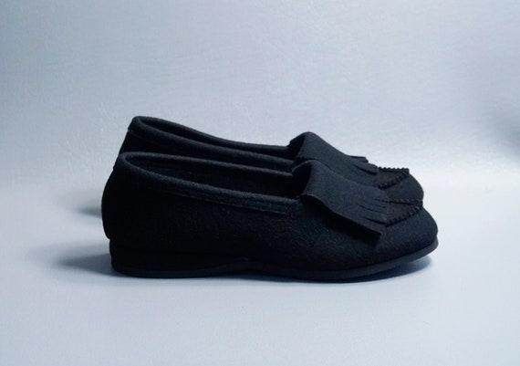 Vintage Slippers, Black Felt Slippers, Daniel Gre… - image 3