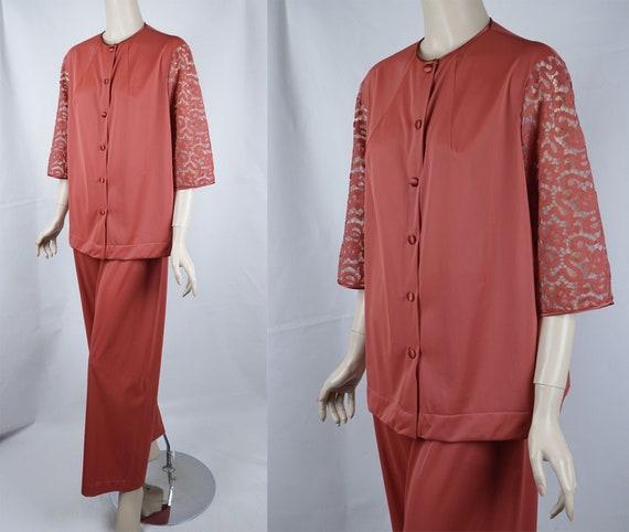 Vintage Pajamas, 70s Lounging Pajamas, Vanity Fair