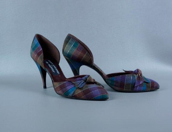 Vintage Heels, Stuart Weitzman Shoes, Plaid Spike
