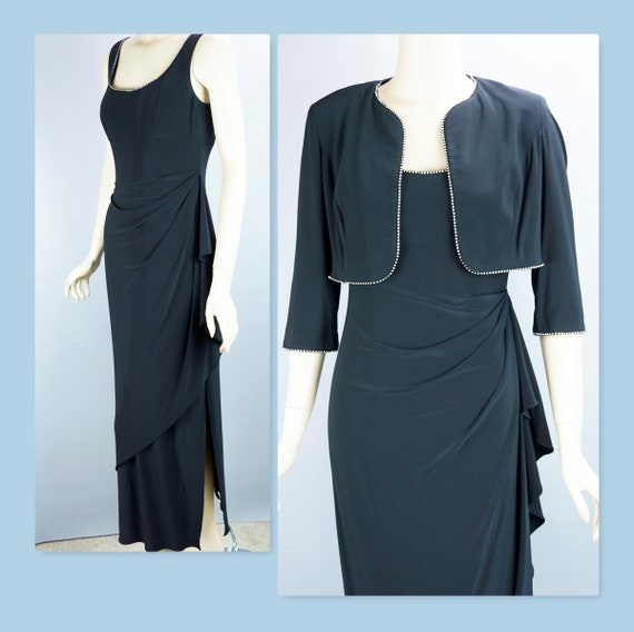 Vintage Evening Gown, Alex Draped Gown and Bolero