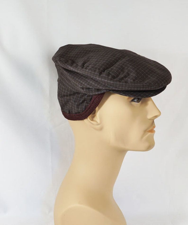 Vintage 1950s Mans Plaid Flat Cap with Ear Flaps Sz 6 7 8 NOS  8f1c6d3bf820