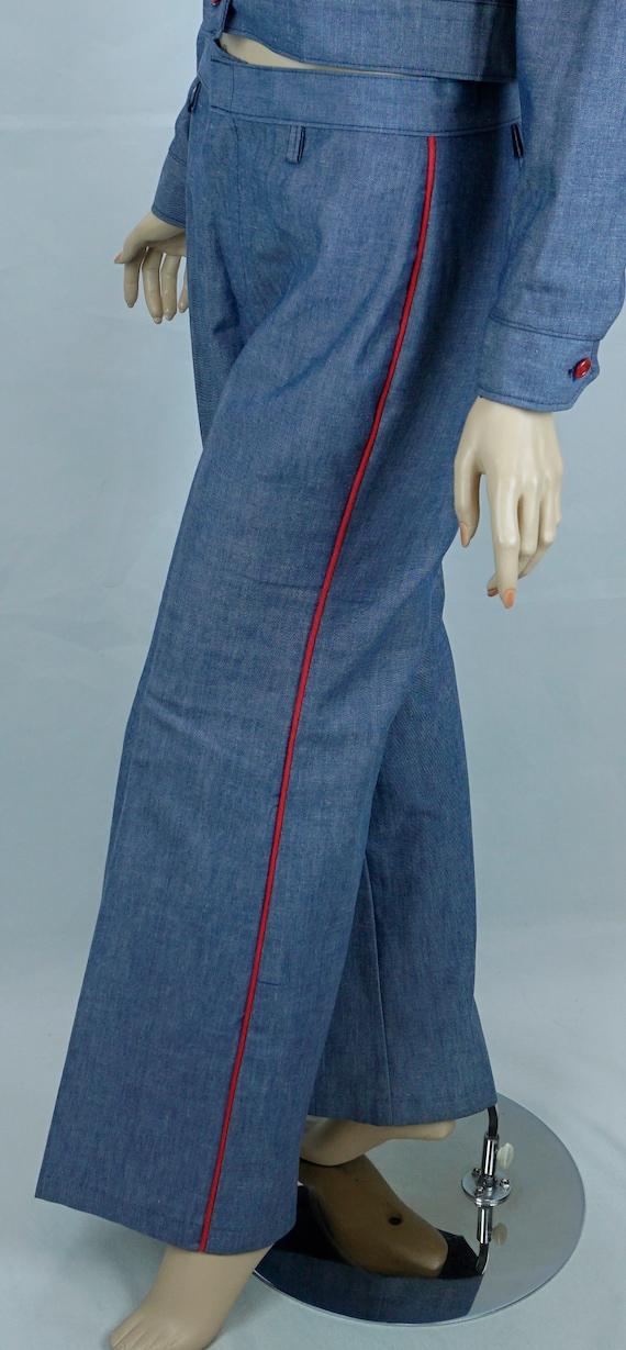 Vtg Pantsuit, MOD Pant Suit, Denim Suit, Bell Bot… - image 6