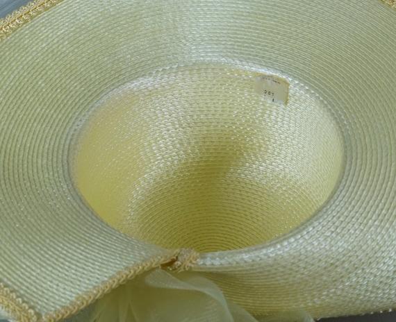 Statement Hat, Yellow Wide Brim Hat, Yellow Straw… - image 7
