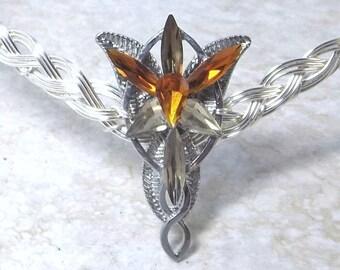 Amber Evenstar Circlet Crown Tiara Celtic Weave
