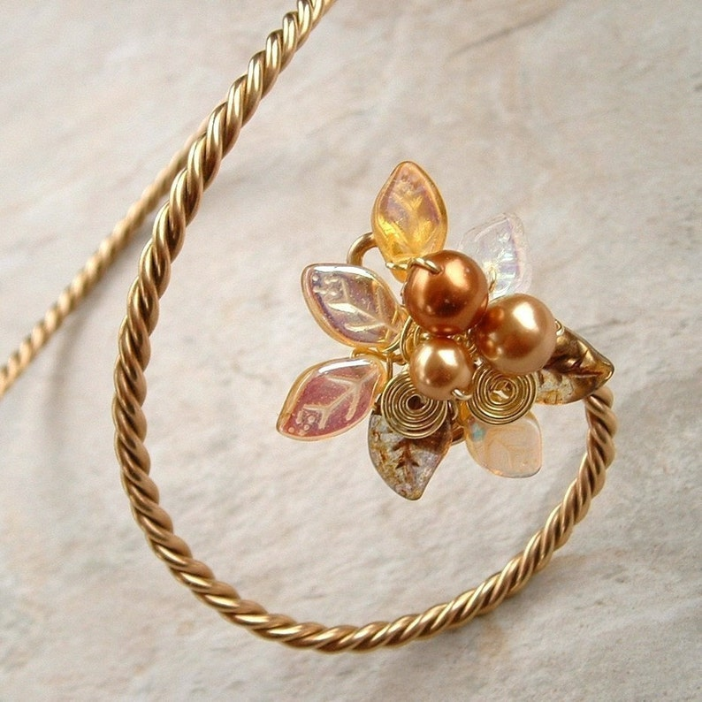 Elven Arm Cuff Fantasy Jewelry Art Nouveau Gold Arm Band Bracelet Gift for Her Fairy Arm Band Elvish Wedding Arm Cuff