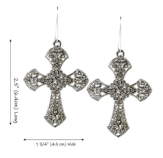 80s Madonna Style Jewel Cross Necklace