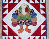 TURKEY LURKEY Thanksgiving Fall Quilt Pattern from Quilts by Elena
