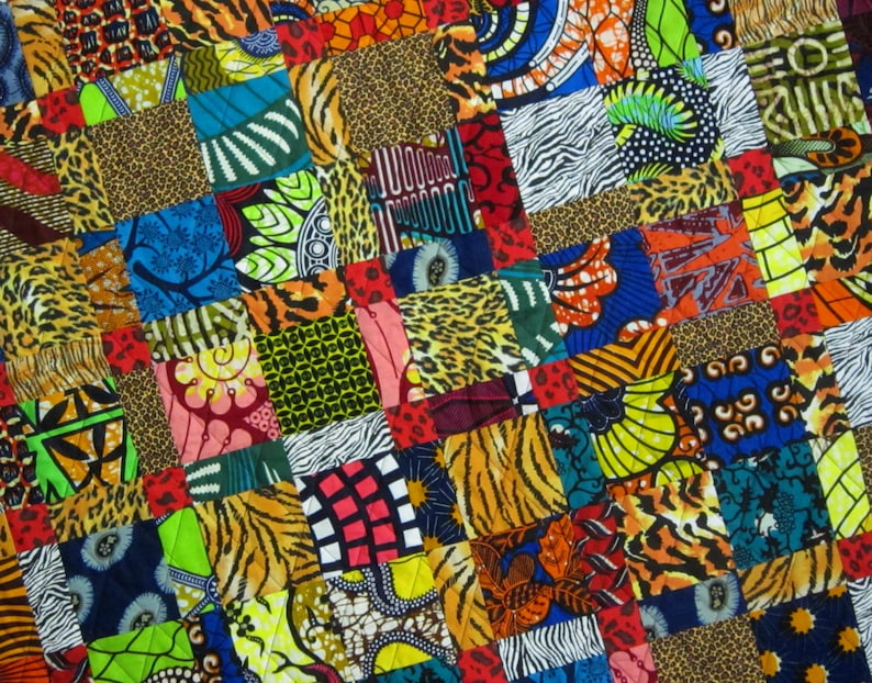 African Double 9 Patch Quilt from Quilts by Elena