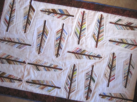 Pdf Audubon Selvage Feather Quilt Pattern From Quilts By Etsy