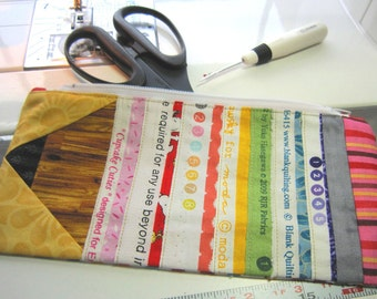 Zipper Pouch Colorful Selvage Pencil Perfect for Back to School Great Gift for Everyone Selvages